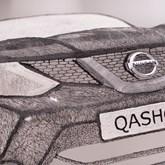 """Nissan """"fabrica"""" Qasqhai com caneta 3D"""