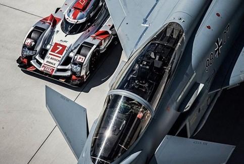 Quando o Audi de Le Mans encontra o temível Eurofighter