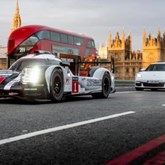 Porsche 919 que venceu Le Mans andou por Londres