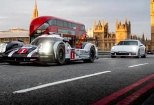 """Porsche 919 e Panamera 4 E-Hybrid """"à solta"""" em Londres"""