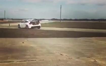 Button testa Honda Civic de Rallycross