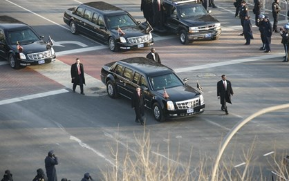 "General Motors ""obriga"" Trump a andar no carro de Obama"