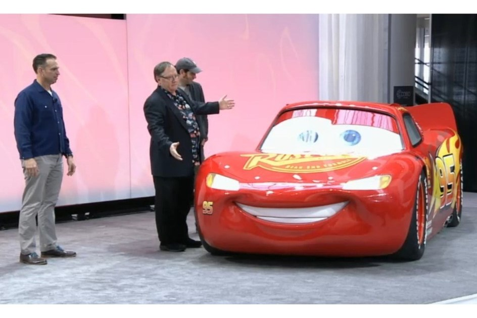 Faísca McQueen esteve em Detroit