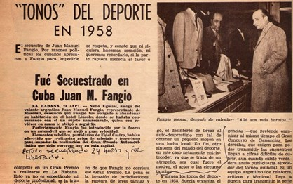 HOJE HÁ 59 ANOS: Fidel Castro raptou Fangio