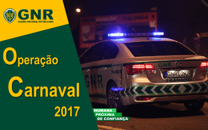 """Operação """"Carnaval"""" da GNR arranca esta sexta-feira"""