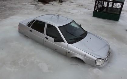 Nem os Lada escapam ao gelo da Rússia