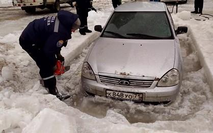 Nem os Lada escapam ao gelo da Rússia (2)