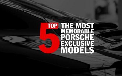 A Porsche escolheu os cinco melhores modelos especiais