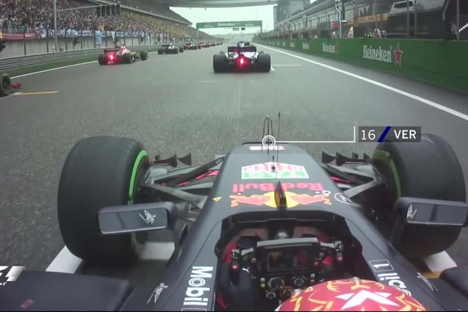 Max Verstappen passa de 16º para 7º em dois minutos