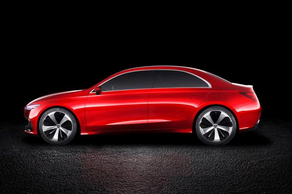 Vai ser assim a versão berlina do Mercedes Classe A!