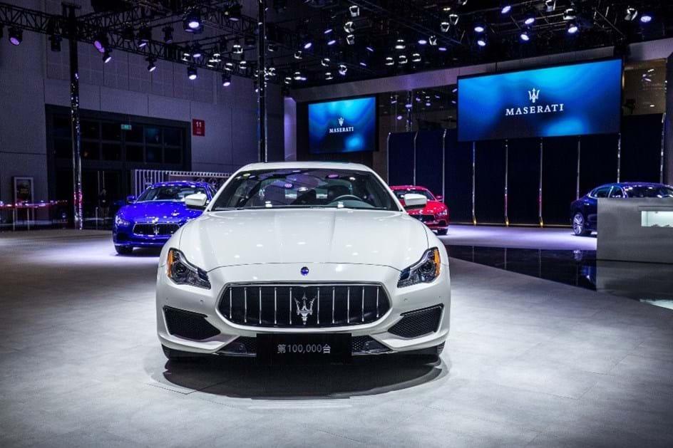 Maserati celebra na China automóvel 100.000