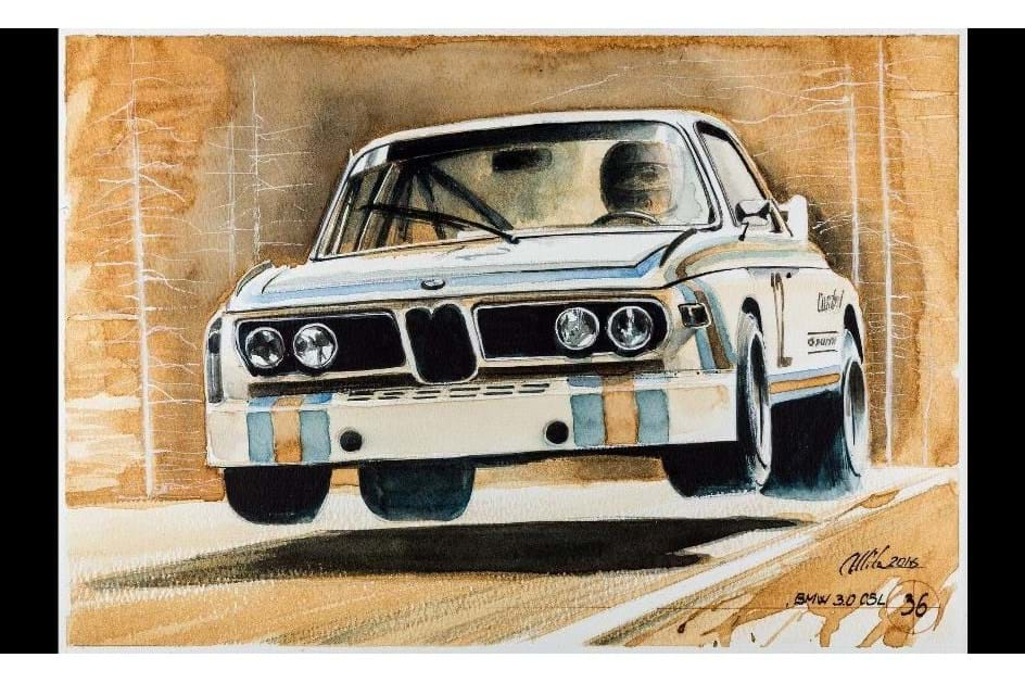 História da BMW Motorsport em 101 pinturas a... café!