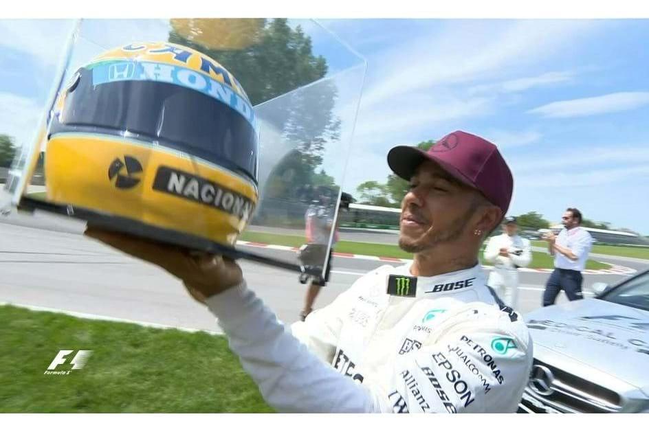 Afinal que capacete recebeu Hamilton?