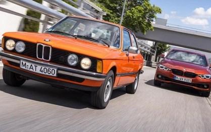 """Novo BMW Série 3 """"lado a lado"""" com o original"""