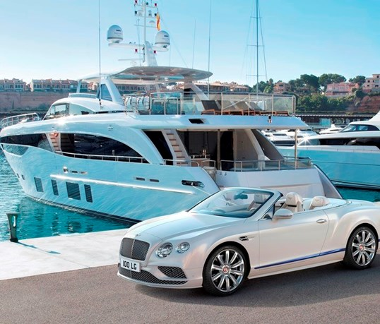 Bentley transforma Continental GT Cabrio em iate com rodas