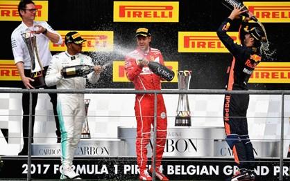 G.P. Bélgica - As melhores imagens do triunfo de Hamilton sobre Vettel