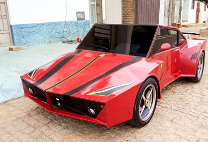 Jovem fez Ferrari artesanal por 1600 €