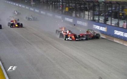 G.P. Singapura: As melhoras imagens de uma corrida... louca!