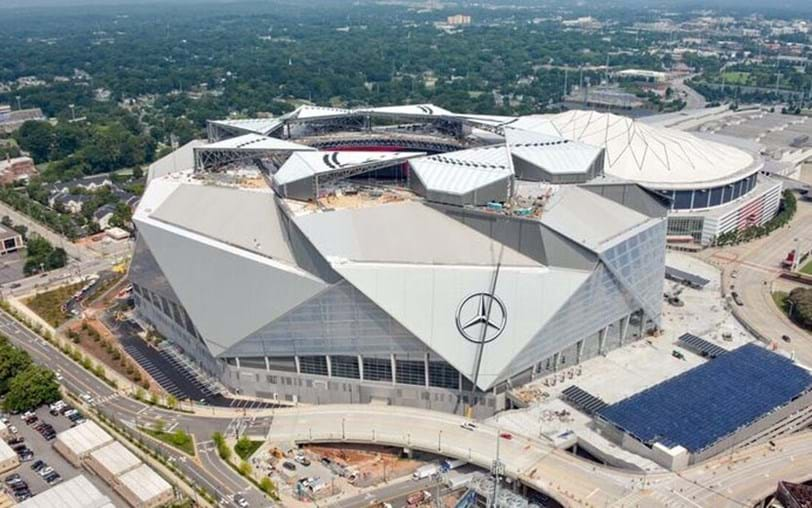 Estádio Mercedes é a nova atracção em Atlanta