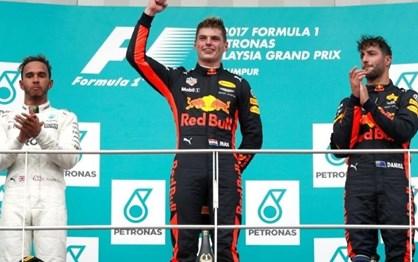 G.P. Malásia: Melhores imagens da festa de Verstappen e da Red Bull