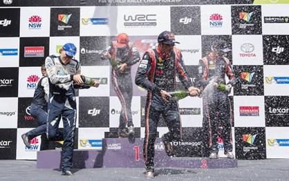 WRC Rali da Austrália: Melhores imagens da festa de Neuville e da Hyundai