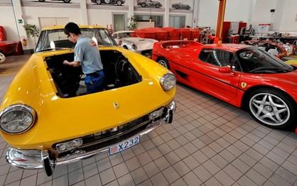 Ferrari já tem uma rede de oficinas para clássicos