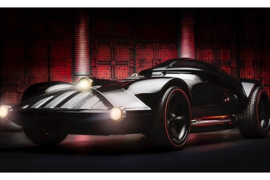 the darth car  a  u201cbomba u201d de 526 cv do maior vil u00e3o de star wars  - actualidade