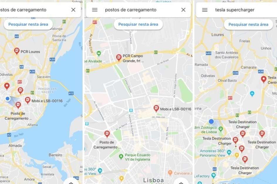 Ja Pode Procurar Postos De Carregamento No Google Maps Tome Nota